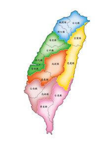 台湾全県地図